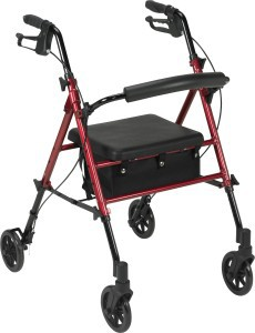 Adjustable Height Rollator with 6 Wheels
