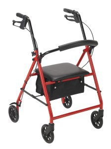 Steel Rollator with 6 Wheels