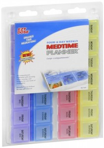 Ezy-Dose Medtime Planner Four-a-Day Weekly