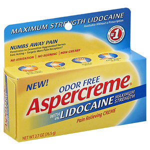 Aspercreme Maximum Strength Lidocaine Pain Relieving Creme