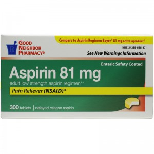 Aspirin 81 mg Enteric Safety Coated