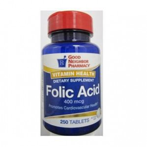 Folic Acid 400 mcg Supplement