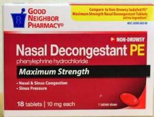 GNP Nasal Decongestant PE