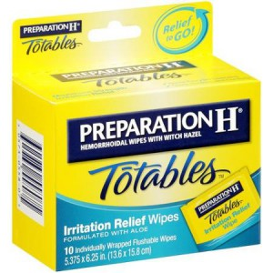 Preparation H Totables Hemorrhoidal Wipes With Witch Hazel