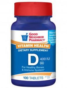 Vitamin D-3 400 IU Supplement
