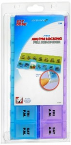 Ezy-Dose Adult-Lock 7-Day AMPM Locking Pill Reminder 2XL