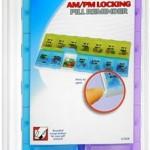 Ezy-Dose Adult-Lock 7-Day AMPM Locking Pill Reminder 2XL