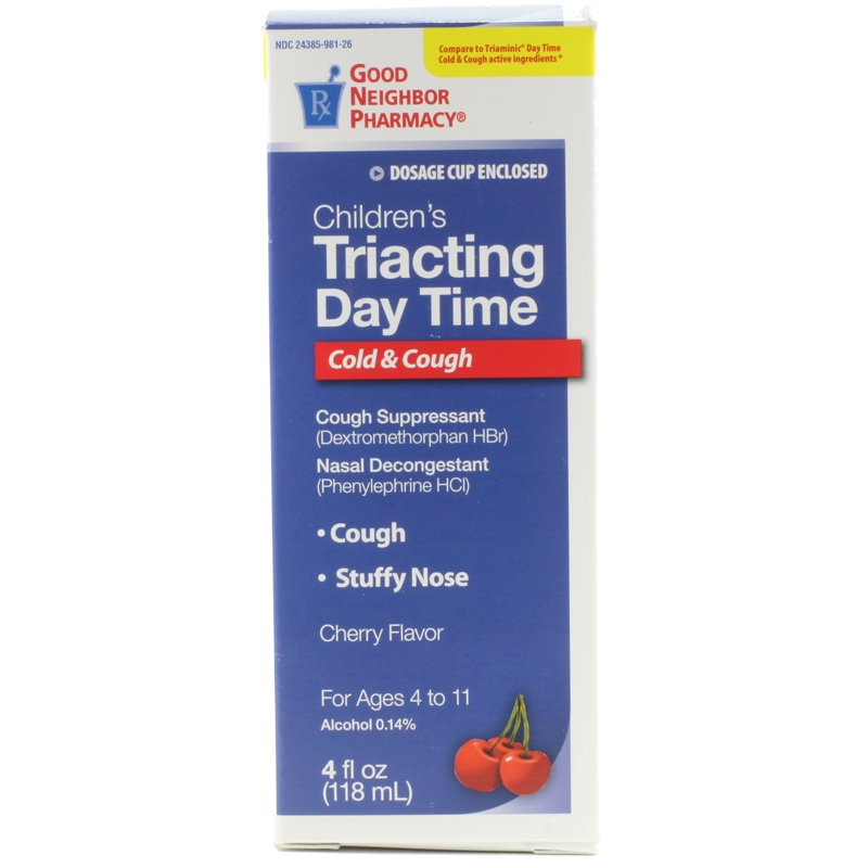 Childrens Triacting Day Time Cold Cough Ryan Pharmacy