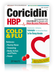 Coricidin HBP Cold and Flu