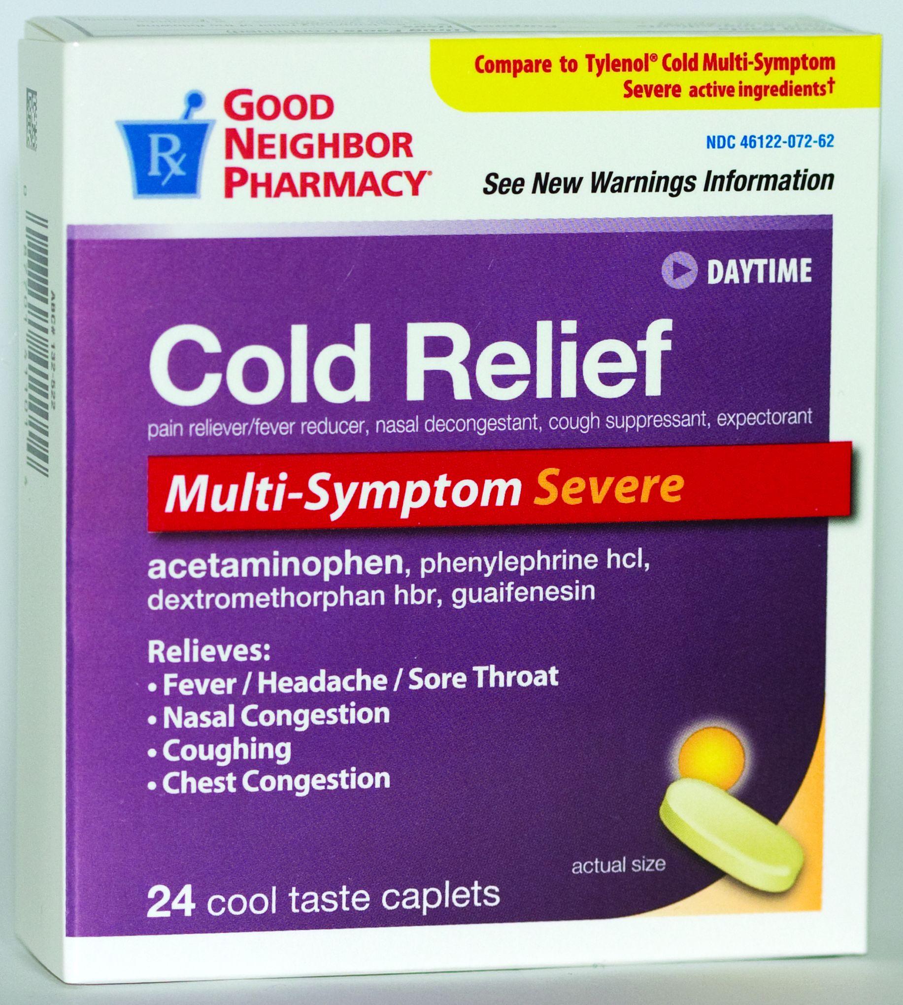 relief cough cold инструкция